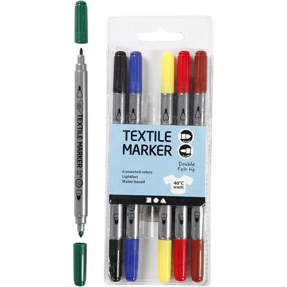 rugzakje kleuren textielstiften 6
