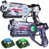 laserguns met targets - vlag
