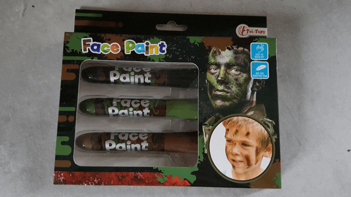 camouflagestiften lasergamen kinderfeestje