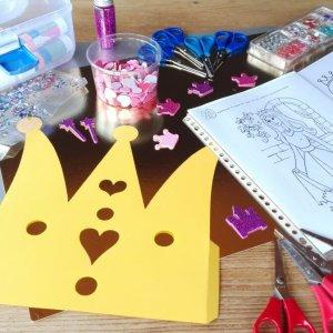 prinsessenfeestje themakist knutselen