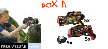 lasergame huren kinderfeestje box a
