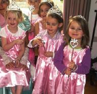 prinsessen kinderfeestje thuis