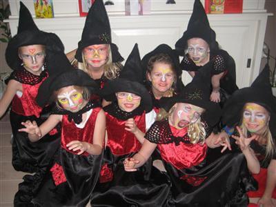 kinderfeestje 5 jaar - kinderfeestje 6 jaar heksenfeest