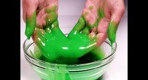 groene slijm kinderfeestje