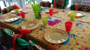 Pippi kakelbont tafelkleed