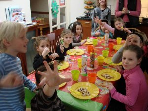 circusfeestje eten tijdens je kinderfeestje
