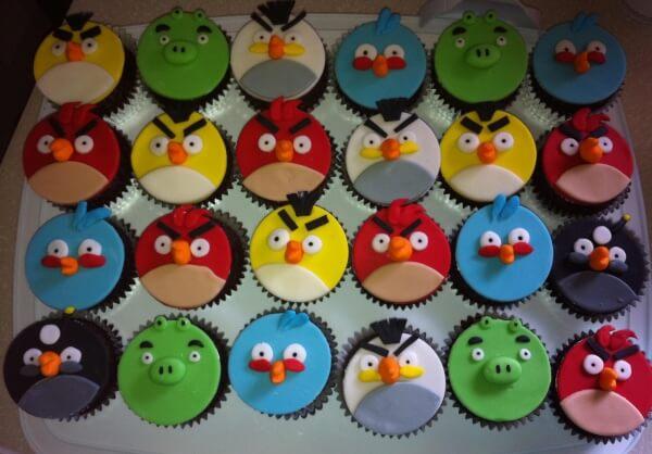 Cupcake pakket angry birds kinderfeestje idee - Idee voor thuis ...
