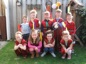 indianen kinderfeestje 6 jaar - 5 jaar
