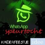 Whatsapp speurtocht kinderfeestje