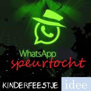 Beroemd WhatsApp speurtocht - Kinderfeestje Idee &UV61