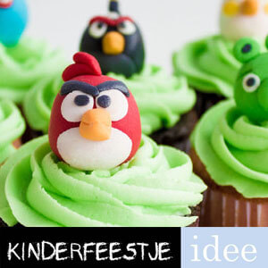 angry birds cupcakes maken kinderfeestje