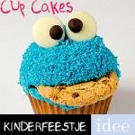 cupcakes maken koekiemonster kinderfeestje idee
