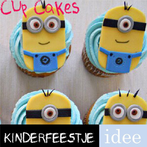cupcakes maken minions kinderfeestje idee-