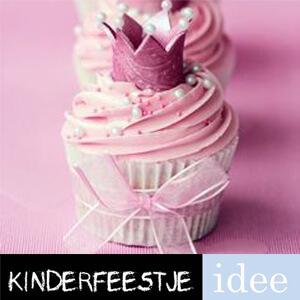 cupcakes maken prinsessen kinderfeestje idee