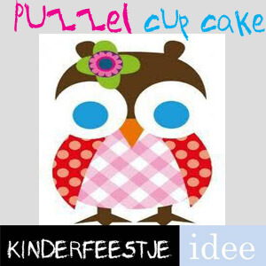 cupcakes maken puzzel pakket kinderfeestje