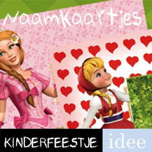 gratis naamkaartjes kinderfeestje