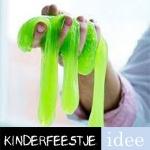 groene slijm maken kinderfeestje
