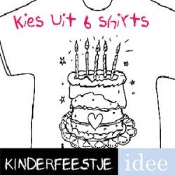 T-shirt kleuren kinderfeestje