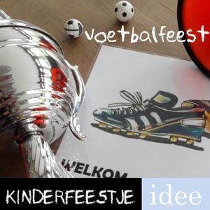 thema kinderfeestje voetbal - voetbalfeestje kinderfeestje themakist