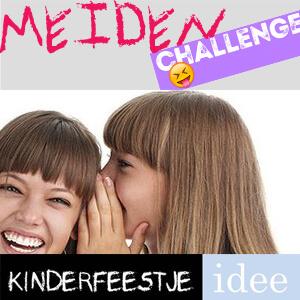 Iets Nieuws Meiden challenge tienerfeestje - Kinderfeestje Idee &WM71