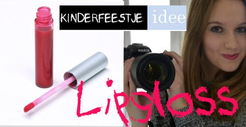 kinderfeestje idee lipgloss maken