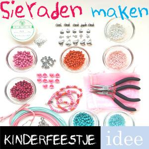 sieraden maken kinderfeestje