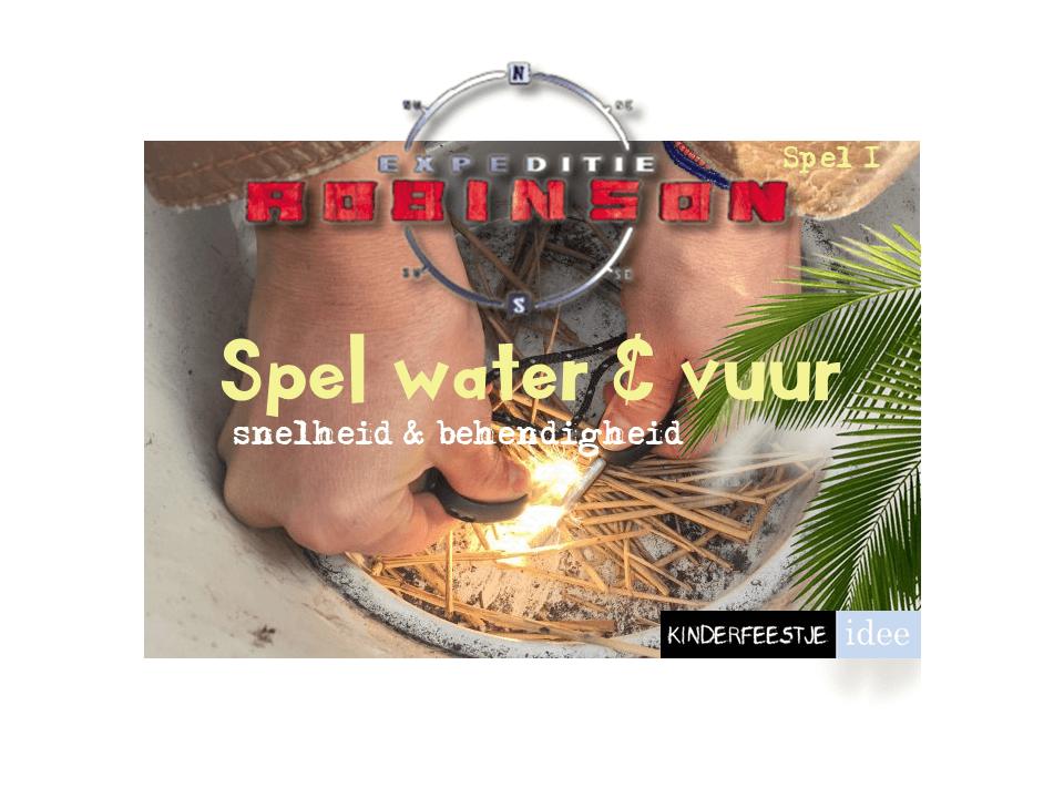 Spel water en vuur