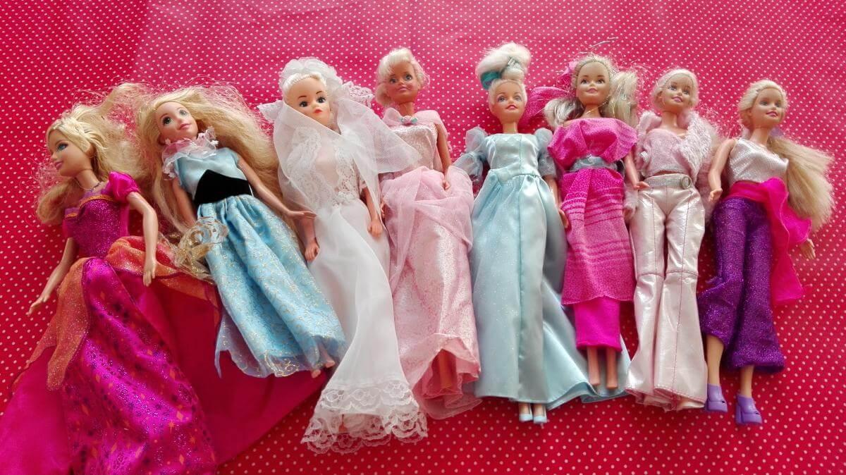 Barbie poppen mogen niet ontbreken