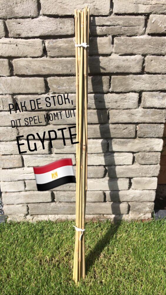de stokken oppakken in Egypte