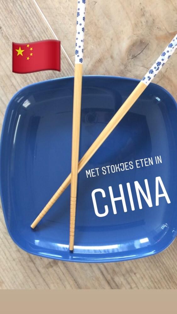 leren hoe je met stokjes moet eten in China