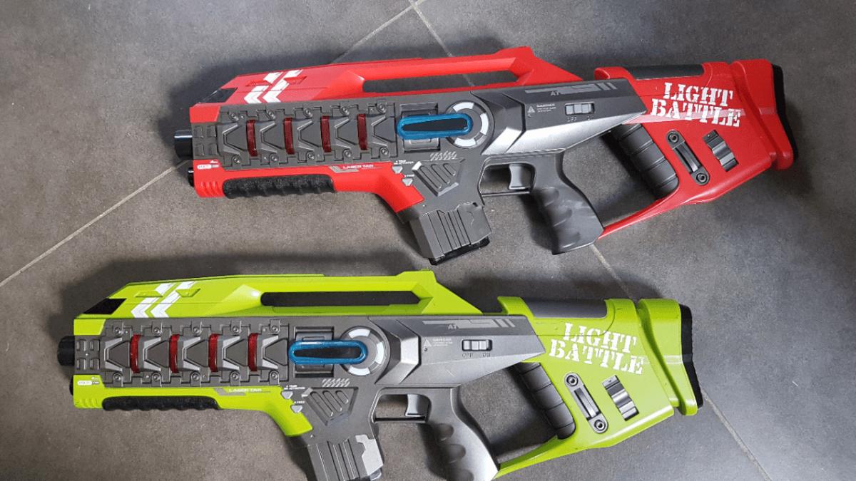 Met stoere laserguns