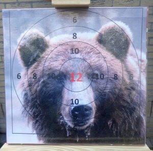 boogschieten op de beer