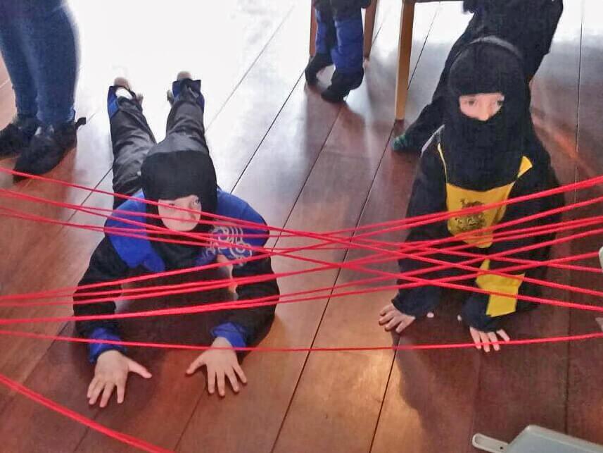 Ontwijk de laser stralen!