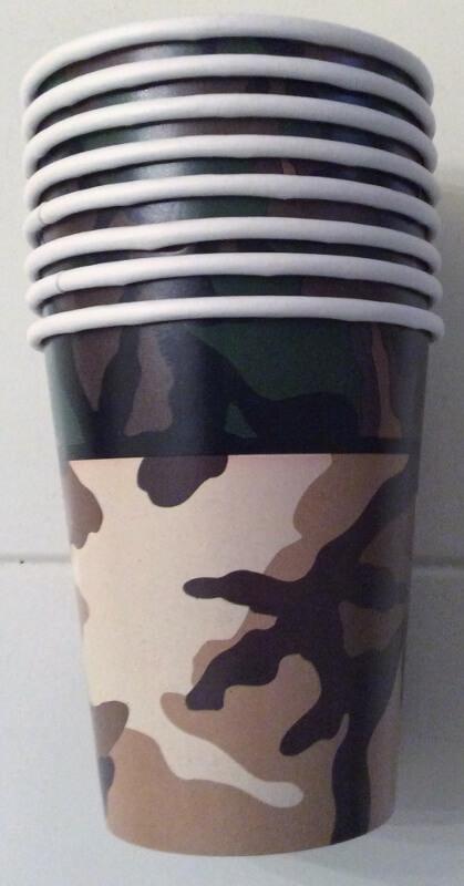 camouflagebekers 8 stuk
