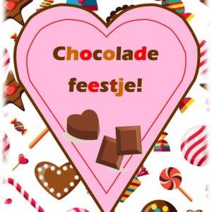 uitnodiging chocoladefeestje