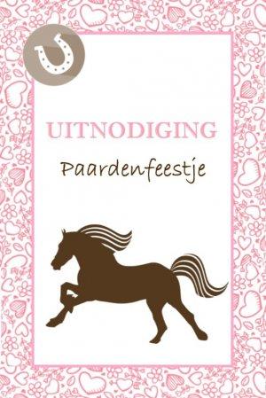 uitnodiging paardenfeestje