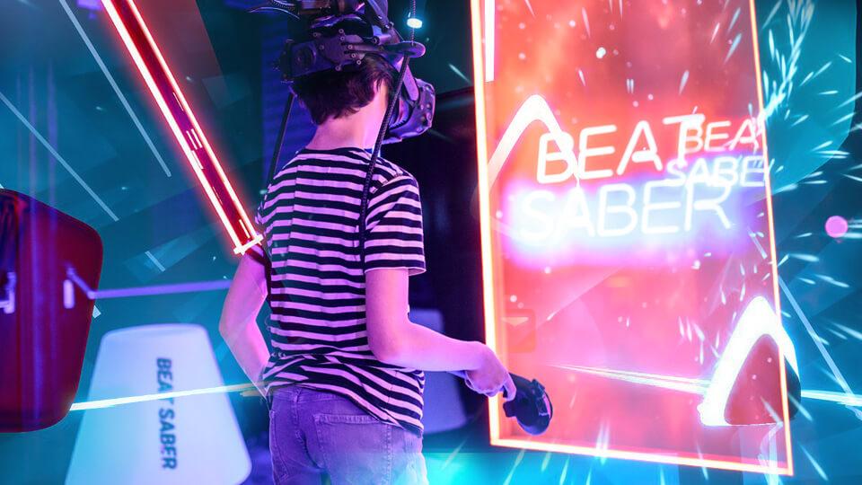 beat-saber kinderfeestje thuis
