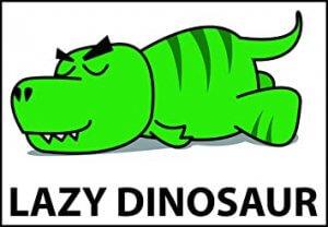 t-rex slaapt