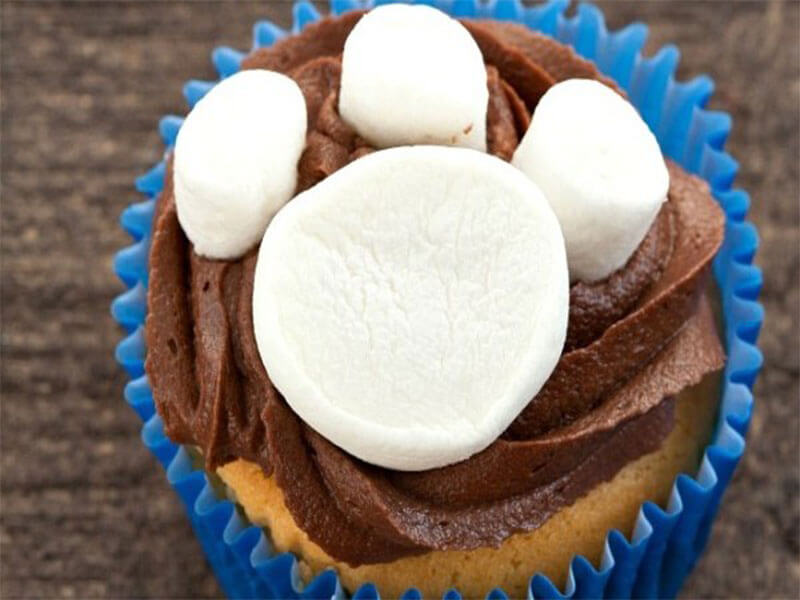 lekker cupcakes versieren in de thema Paw Patrol.