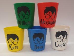 Harry potter bekers met eigen naam