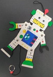 Knutselfeestje Robot trekpop