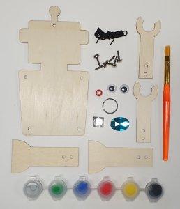 Knutselpakketten robot trekpop
