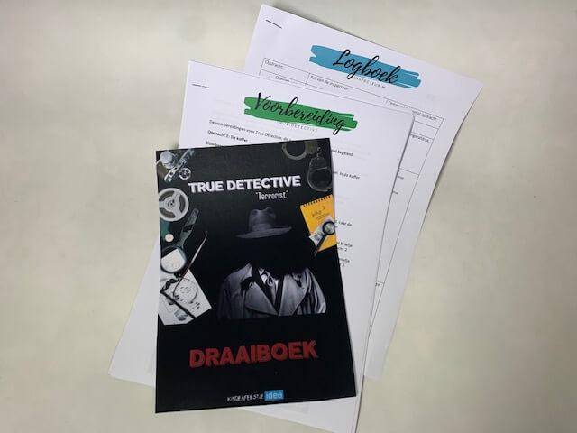 Draaiboek, voorbereiding en logboek voor True Detective