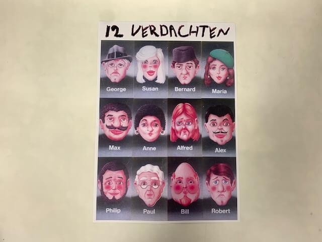 12 mogelijke verdachte...